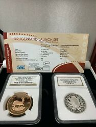2009 Krugerrand Launch Set International Edition Gold And Silver Ngc Pf69/gem Pf
