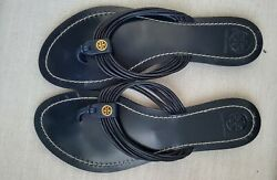 Tory Burch Leather Thong Sandals Navy Size 8.5 $60.00