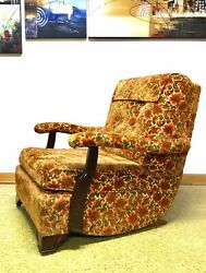 Vintage Mid Century Retro Floral Velvet Lounge Chair Mcm 60s Pearsall Furnit