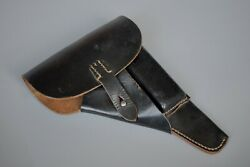 Wwii Ww2 German Original Wehrmacht Walther P38 Leather Holster Softshell Rbnr