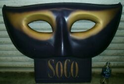 Southern Comfort Soco 3d Art Deco Sign Purple And Gold Artwork One Of A Kind/rare