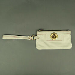 Marc by Marc Jacobs Eggshell Leather Wristlet $25.00
