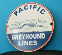 Vintage Greyhound Porcelain Gas Bus Lines Yelloway Auto Service Station Sign