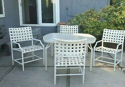 Vintage Tropitone Cantina Patio Set Five Chairs 1 Table Club Foot Stool Pickup