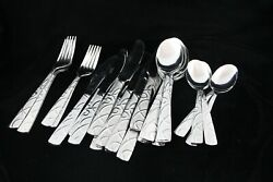 Cambridge Conquest Stainless Steel Flatware Spoons Forks Knives Set 31 Pc