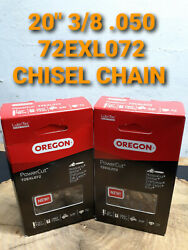2 Pack 20 Oregon Jonsered 2258 Chisel Chainsaw 72exl072 3/8 .050 72 Chain