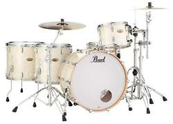 Pearl Session Studio Select 4-piece Shell Pack - 24 Bass Drum - Nicotine White