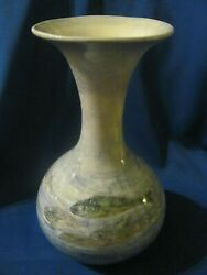 Vintage Rare Red Wing Pottery Lunch Hour Large Vase With Hand Painted Fishes