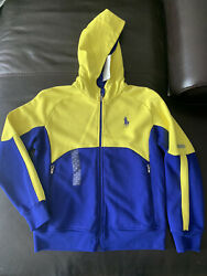 New Polo Big Boys Colorblocked Active Full Zip Hoodie Size M10-12