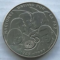 1995 South American 50 Years Of The United Nations One Peso Coin
