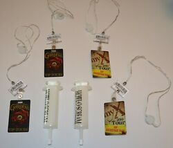 Lot Of Busch Gardens Howl-o-scream Vip Backstage Passes And Plastic Blood Shot