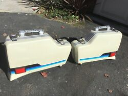 Honda Cbx 1000 Sport Side Bags Left And Right Pair Pearl White.