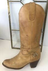 Nobil's 29962 Womens Cowboy Boots Western Style Shoes Leather Brown Sz 8 B