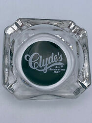 """Clyde's An American Bar Vintage Collectable Glass Ashtray 3.5"""""""
