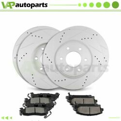 Brake Pads And Rotors Front Rear For Infiniti Qx56 Nissan Armada Drilled