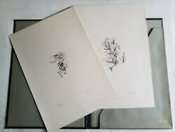 Asger Jorn Two Etchings Il Ridotto Hand Signed Numbered Dry Stamp 1961