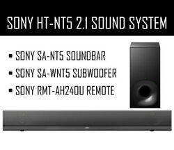 Sony Ht-nt5 2.1 Channel Soundbar System With Wireless Subwoofer And Remote