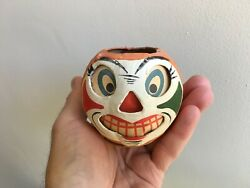 Antique Halloween Candy Container Jol Lantern Germany Unique Rare 1940and039s N Mint
