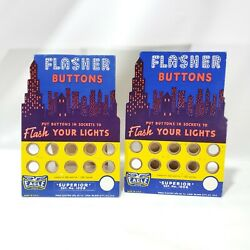 Vintage Eagle Electric Flasher Buttons Counter Displays Advertising Signs Usa