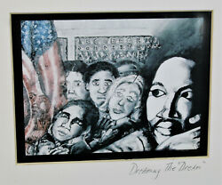 Martin Luther King Jr. Black Art Print Dreaming The Dream 12quot; x 9quot;