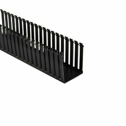 181-45002 - Slotted Wall Wiring Duct 4x5in Non-adhesive Pvc Blck 120 Ea
