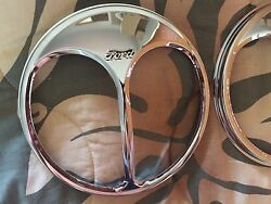 Pair Of Ford Vintage Auto Parts Headlight Part