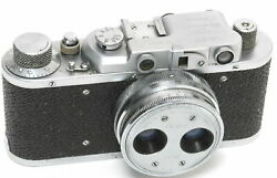 Fed I With Stereo Lens 3.8 / 38mm Rare Nottestednot Tested