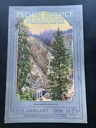 Vintage Pgande Pacific Gas And Electric Company Service Magazine January 1931