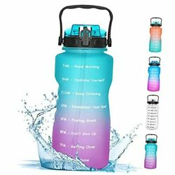 Half Gallon Water Bottle With Straw Motivational Water Bottles With Times To