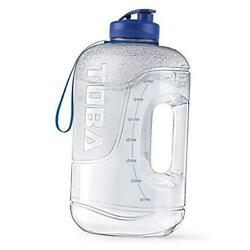 1 Gallon Water Bottle With Time Marker - 128 Oz Bpa Free Large Motivational
