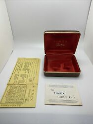 Vintage 1970s Timex Electric Box With Paperwork And Manual