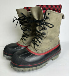 Mens 7 Red Wing Rubber Leather Steel Toe Lace Up Insulated Duck Boots Usa Made
