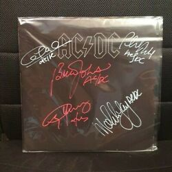 Ac/dc - Black In Black Signed Vinyl All Members Angus Young Malcom Young