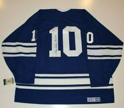 George Armstrong Signed 1967 Toronto Maple Leafs Retro Ccm Jersey Beckett Coa