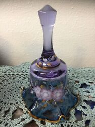 Fenton Mulberry Floral Bell Hp By P Miller 541/4000 6.75 X 4.5