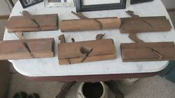 6 Antique Wood Working Planes