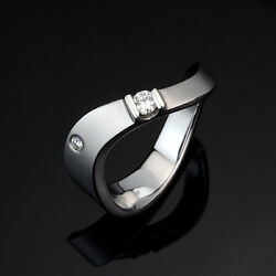 Queen And Daddy Just Married 18k750 White Gold Diamond Ring