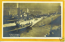 Real Photo Postcard Rppc Ss Eastland Disaster Chicago