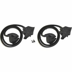 Rear Door Weatherstrips Compatible With 1971-1976 Cadillac Hardtops