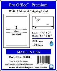 Pro Office 500 Self Adhesive Shipping Labels Round Corner Blank Shipping Labels