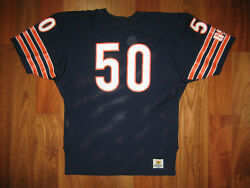 80s Authentic Mike Singletary Bears Sand-knit Jersey 48