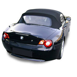 Bmw Z4 2003-2008 Convertible Soft Top Replacement And Glass Window Black Stayfast
