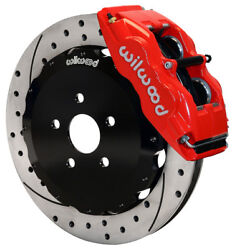 Wilwood Disc Brake Kitfront05-10 Scion Tc13 Drilled Rotorsred Calipers