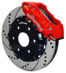 Wilwood Disc Brake Kitfrontgmcchevy Truck 150014 Drilled Rotorsred Caliper