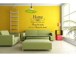 HOME FRIENDS FAMILY Wall Art Decal Decor Vinyl Quote Lettering Words 24quot;