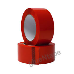Red Acrylic Carton Sealing Packing Tape 2 X 330and039 / 48 Mm X 110 Yards 36 Rolls
