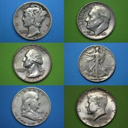 Make Offer 1 Standard Ounce 90 Silver Mixed Junk Coins Flat Rate Shipping