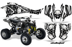 Can-am Ds450 Graphics Kit Creatorx Decals Stickers Skullcified Silver