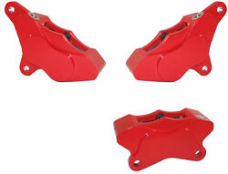 Wilwood 1984-99 Harley Davidson Front 2 And Rear Motorcycle Brake Calipersred