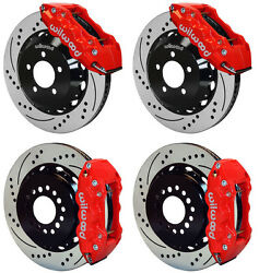 Wilwood Disc Brake Kit05-10 Dodge Charger30014 Drilled Rotorsred Calipers